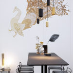 luxurious and golden interior cafe